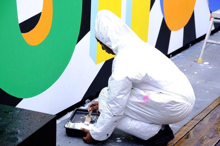 London Painting Colorful Artist Handmade