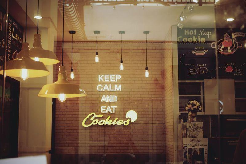 Information sign in restaurant