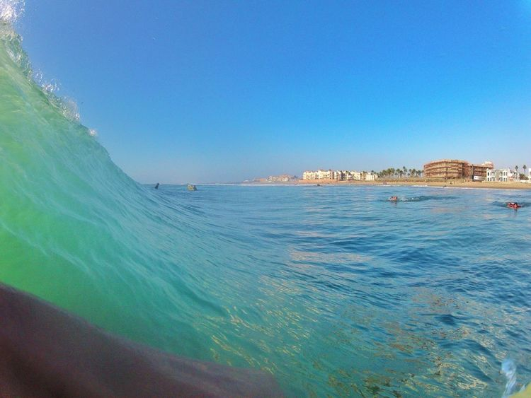 If you don't know already, I'm highly addicted to bodyboarding! A pic I took with my gopro boutta start doin my thing!!