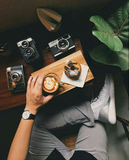 Out Of The Box Food And Drink Table Coffee - Drink Human Body Part Indoors  Camera - Photographic Equipment Photography Themes EyeEmNewHere Photooftheday Picoftheday Art Is Everywhere