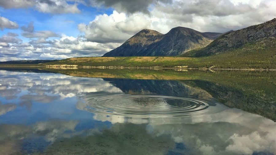 Reflection Cloud - Sky Scenics Beauty In Nature Tranquility Lake Mountain Range Water EyeEmNewHere