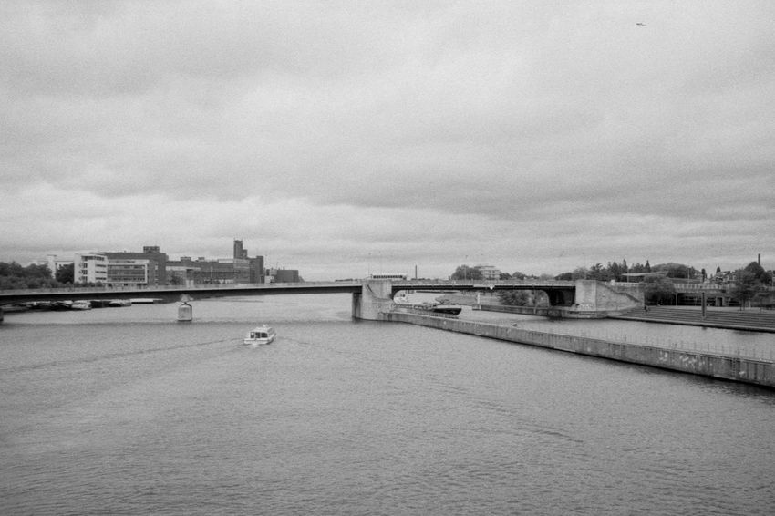 Water Landscape 35mm 35mm Film Analog Black & White Blackandwhite Boat Bridge Canal Channel City Cityscape Film Fomapan200 ID-11 Landscape Sail Sky Urban Water