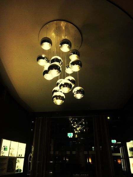 Illuminated Lighting Equipment Low Angle View Ceiling Indoors  Architecture Built Structure Chandelier Glowing