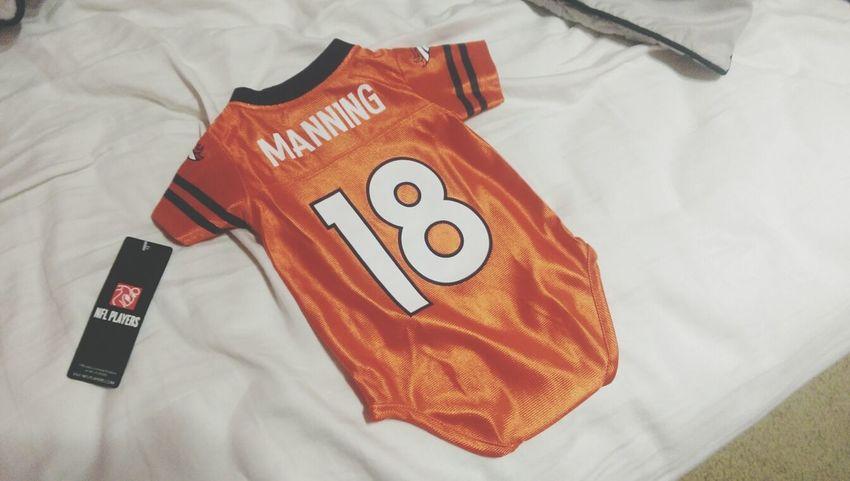Denver Broncos  Damien is ready for Football Season :)