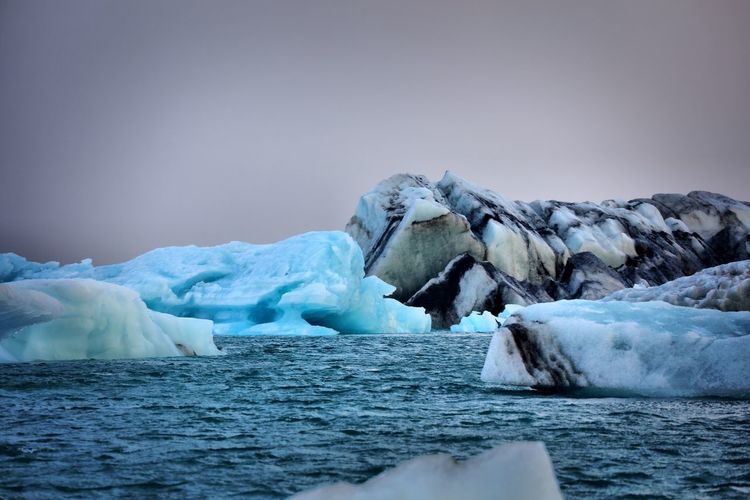 Iceland - icebergs Cold Temperature Nature Beauty In Nature Frozen Tranquil Scene Iceberg Winter Scenics Water Tranquility Ice Clear Sky No People Day Glacier Outdoors Sky