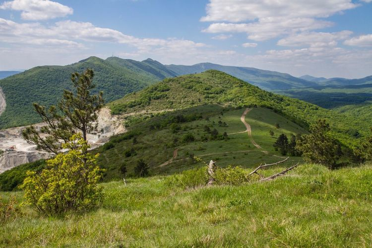 Spring In Moutains No People Sunny Day Trees Beauty In Nature Black Sea Gelendzik Coast Landscape Sky Russia