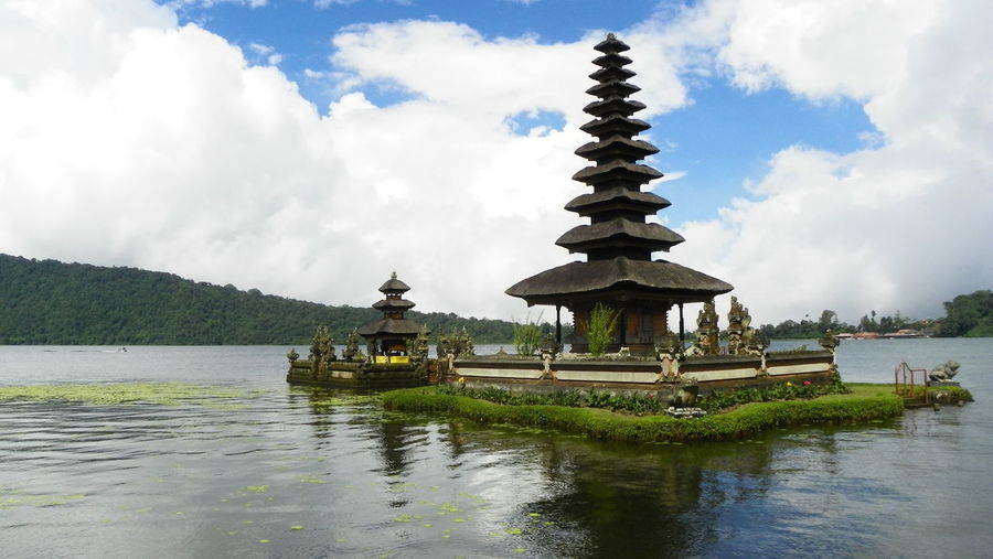 Hinduistic water temple Pura Ulun Danu Bratan, Bali, Indonesia Architecture Bali Building Exterior Built Structure Cloud - Sky Cultures Day EyeEmNewHere Hinduism History Meditation No People Outdoors Pagoda Place Of Worship Religion Sky Spirituality Tourism Travel Travel Destinations Tropical Climate Vacations Water Water Temple