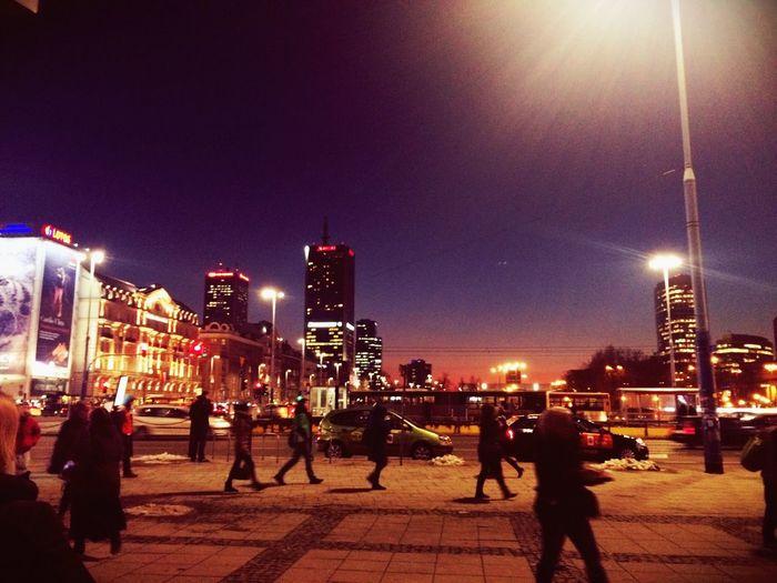 Warsaw never sleep,. Warsaw Poland Center City
