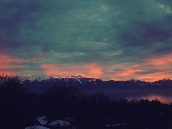 Lac léman @switzerland Switzerland Lac Léman Sunset Beautiful Lake Swiss Clouds And Sky Colors First Eyeem Photo Perspectives On Nature