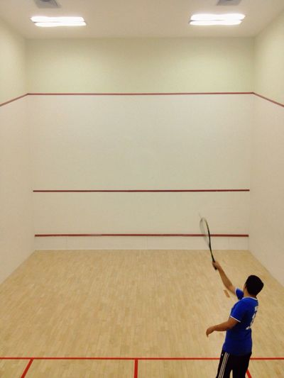 Tennis Player Playing In Court