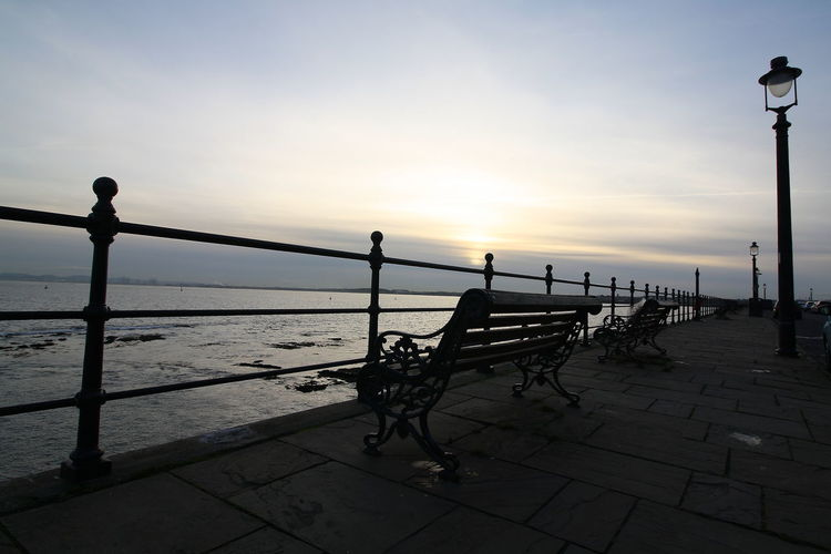 OUT AND ABOUT IN HARTLEPOOL Sky Water Sunset Sea Beauty In Nature Nature Railing Scenics - Nature Tranquility Beach Street Orange Color Silhouette Tranquil Scene Outdoors Horizon Promenade No People Idyllic Horizon Over Water