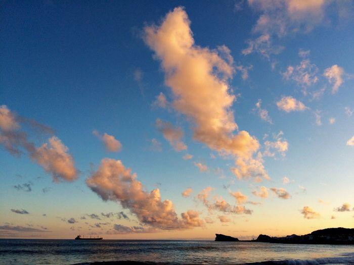 Sea Sky Horizon Over Water Scenics Water Tranquil Scene Nature Cloud - Sky Sunset Beach Beauty In Nature