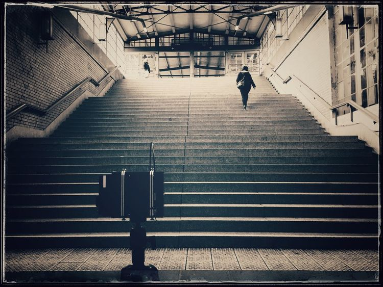 testing in the field... Pinhole Camera Pinhole Photography Film Photography Filmisnotdead Blackandwhite Analogue Photography Buy Film Not Megapixels Schwarzweiß Monochrome IPhoneography Iphone6splus Showcase: February Stairs Train Station S-bahnhof