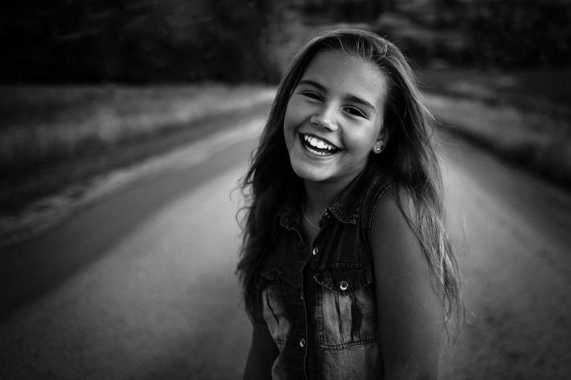 Girl on rural