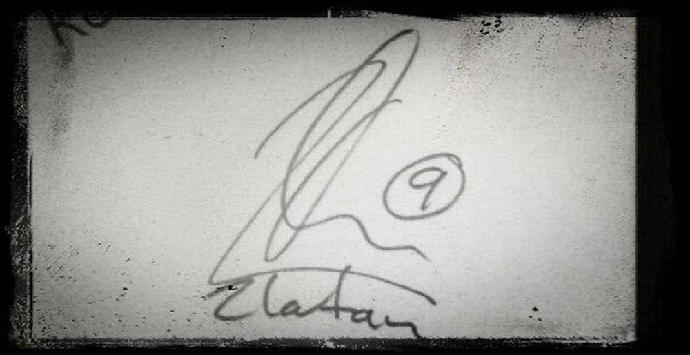 You Know This Signature #zlatan