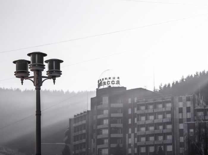 Эстетика захолустья 2 Street Light No People Architecture Day City Outdoors Skyscraper Sky #urbanana: The Urban Playground