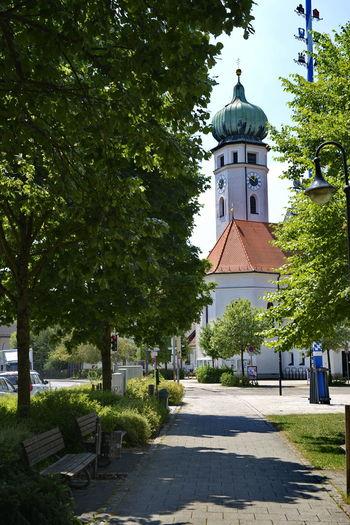 Church and Maypole Bavaria Bavaria Church Church And Maypol Eichenau Eichenauung Maypole Munich Metropolitan