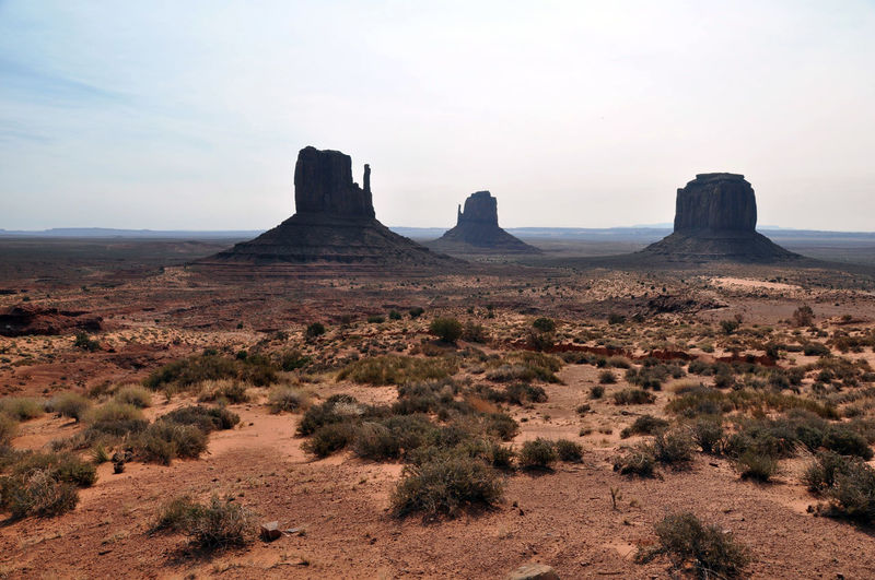 Arid Climate Barren Beauty In Nature Desert Extreme Terrain Horizon Over Land Landscape Monument Valley Nature Physical Geography Remote Rock - Object Rock Formation Scenic View Scenics The KIOMI Collection Tourist Attraction  Travel Destinations USA