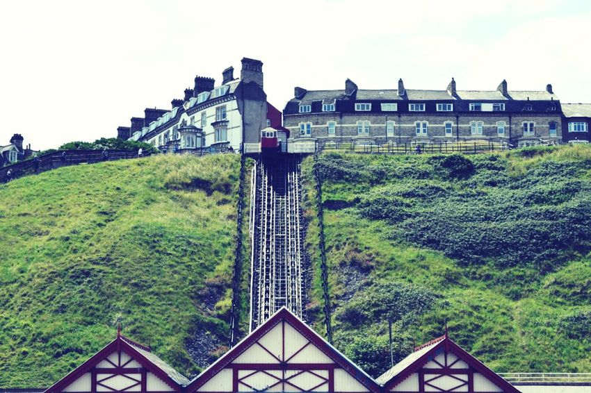 Saltburn cliff lift - the oldest operating water balance cliff lift in the UK Victorian Taking Photos Beach Eye4photography  Life Is A Beach Outdoors Soaking Up The Sun Sea Check This Out Enjoying Life