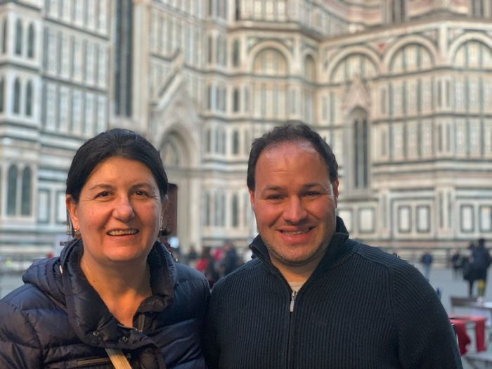 Two People Men Architecture Adult Portrait Togetherness Smiling Headshot Front View Real People City People Happiness Emotion Building Exterior Built Structure Looking At Camera Lifestyles Love Warm Clothing