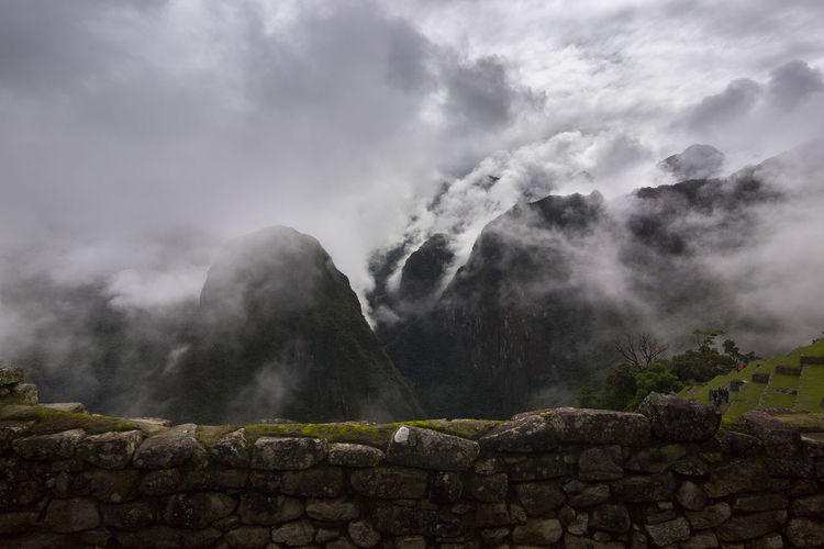 A view from the top of Machu Picchu.Landscape Cloud - Sky Water No People Outdoors Nature Mountain Day Cuzco Inca Ruins Peru Traveling Moray Inca Peru Sky Beauty In Nature Terraced Field Travel Destinations Machu Picchu MachuPicchu Machu Picchu