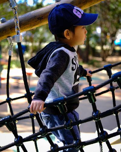 Playtime Son Strathfield Park City Child Childhood Climbing Girls Full Length Playing Playground Boys Fun