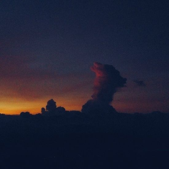 Is it a goat or dog? A man and his baby? Well they're merely cloud formations Vscocam Sunset Merbabu Explorenature CL