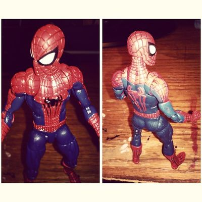 """With great power comes a great beatdown"" Marvel Spiderman Spiderblood Marvellengends Figurecollecting Figures Sothrilled Geekingout Somuchsexiness Peterparker"