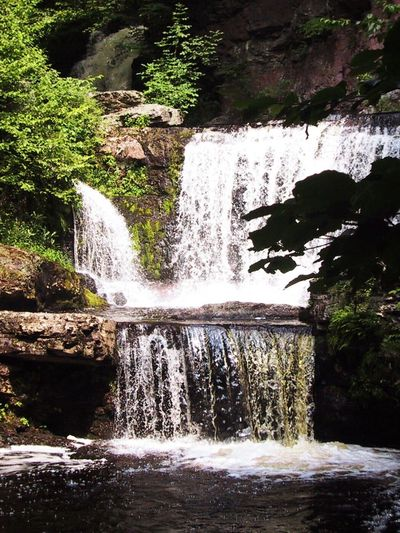 Relaxing waterfall. Water Waterfall Motion Flowing Water Nature Beauty In Nature Splashing Day Rock - Object No People Outdoors Scenics Long Exposure Tree Plant Forest Power In Nature Breathing Space Marylandisforcrabs🦀