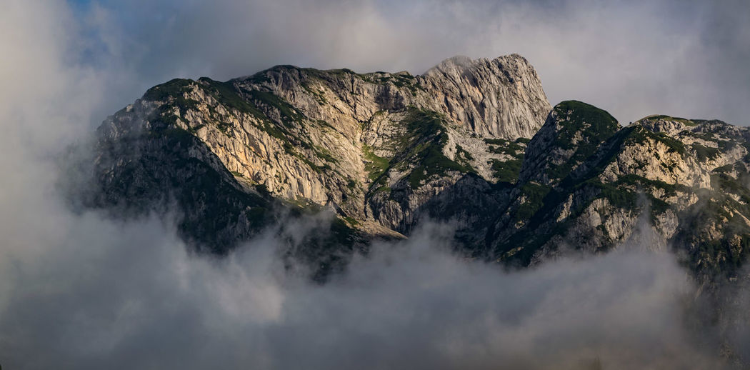 Beauty In Nature Cloud - Sky Day Geology Kamnik-Savinja Alps Mountain Mountain Range Nature No People Outdoors Physical Geography Rock - Object Scenics Sky Tranquil Scene Tranquility Travel Travel Destinations Travel Photography