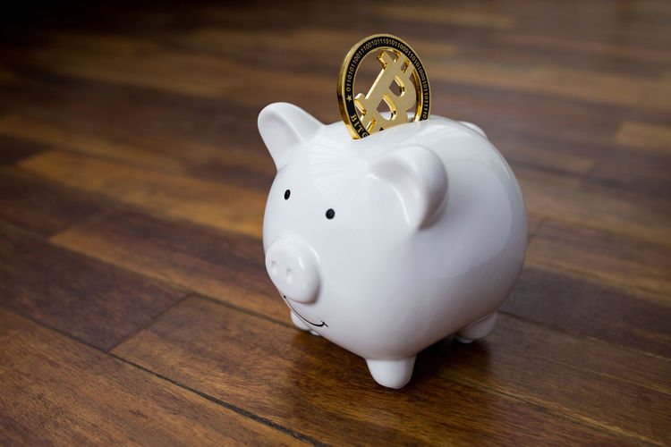 A bitcoin going