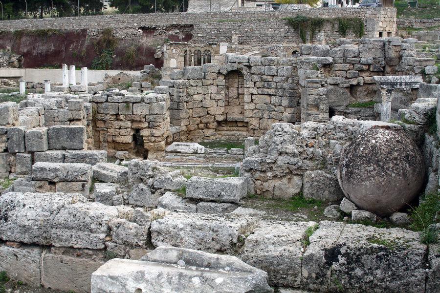 Ruins of Corinth Ancient Civilization Corinth Corinth Greece Corinthian Architecture Historic History Religion Ruined