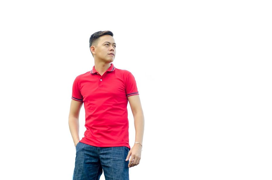 EyeEm Selects One Man Only Casual Clothing Copy Space Only Men One Person Adults Only White Background Adult Jeans Black Hair People Men Young Adult Outdoors Day EyeEmNewHere