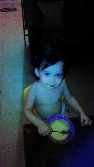 my precious baby...eating ice cream.!
