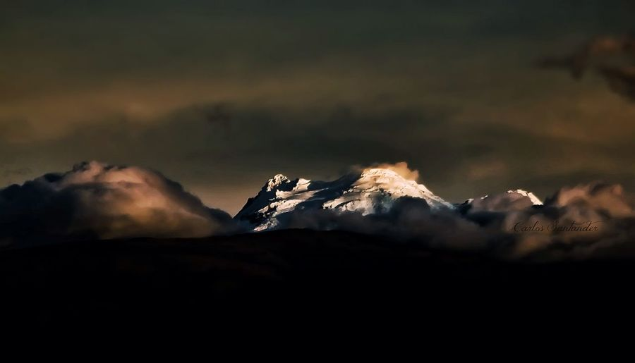 Mountains Ecuador Antisana Sunset Landscape