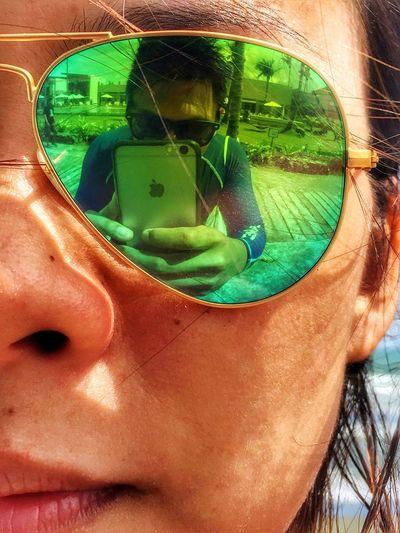 Reflection Travel Destinations EyeEmNewHere EyeemPhilippines IPhoneography Outdoors Summer Macro Photography First Eyeem Photo Close-up Rayban EyeEmNewHere POTD
