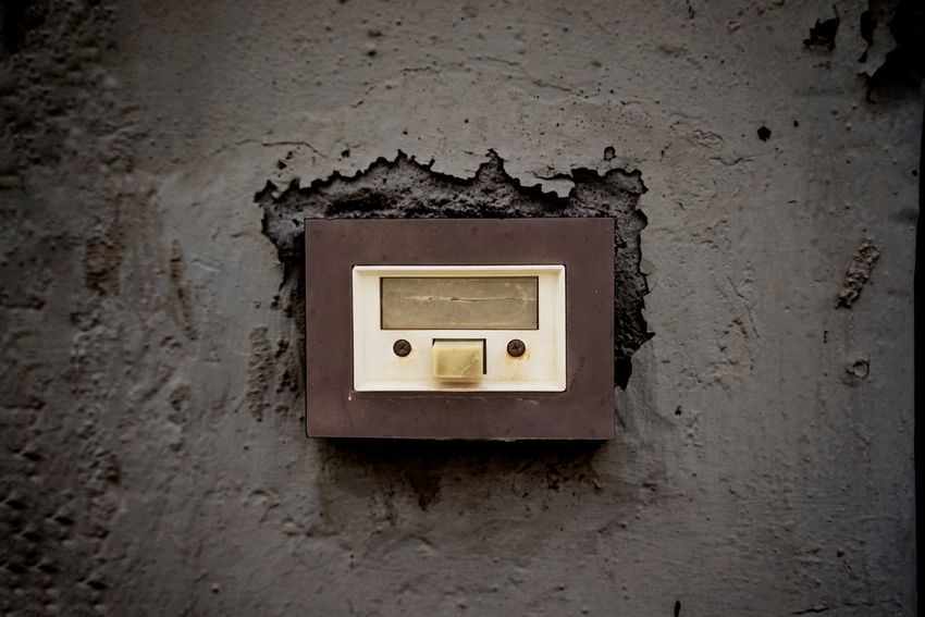 Doorbell Old No People Electricity  Architecture Metal Technology Close-up Built Structure Connection Control Man Made Object Equipment