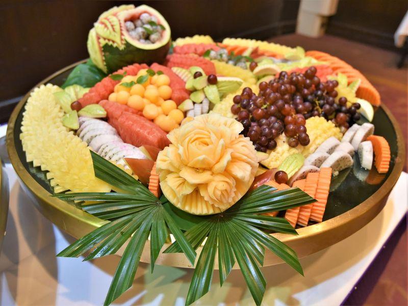 Dragon Fruit Papaya Pineapple🍍 Grapes Watermelon🍉🍉🍉 Cantaloupe Guava  Fruits Thai Fruits Thailand Close-up Tropical Fruit