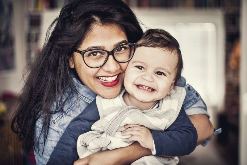 Mother And Son Teeth Teething Happy