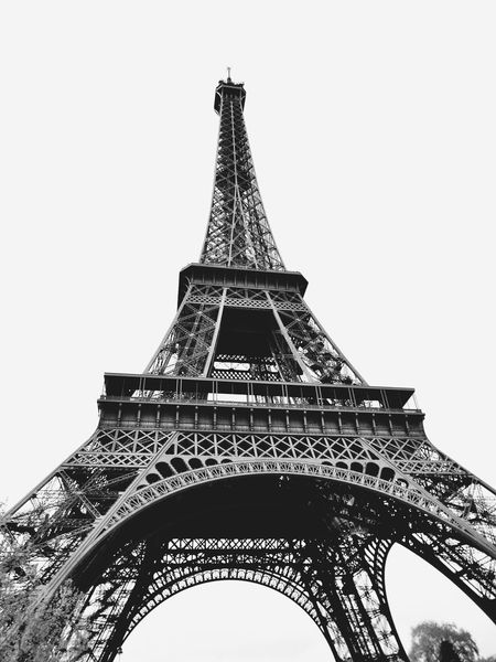 Monochrome Photography Dramatic Angles International Landmark Famous Place Eiffel Tower Tower Tourism Travel Destinations Capital Cities  Culture Travel Tall - High Built Structure Low Angle View Architecture Iron - Metal Metal Architectural Feature City History Blackandwhite Paris Fujifilm Monument TakeoverContrast