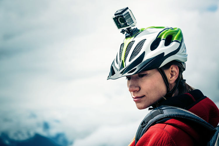 Action Action Cam Action Camera Adventure Gopro Helmet Helmet Cam Leisure Activity Mountain Nature One Person Outdoors Real People Sky Sport Sports Young Adult