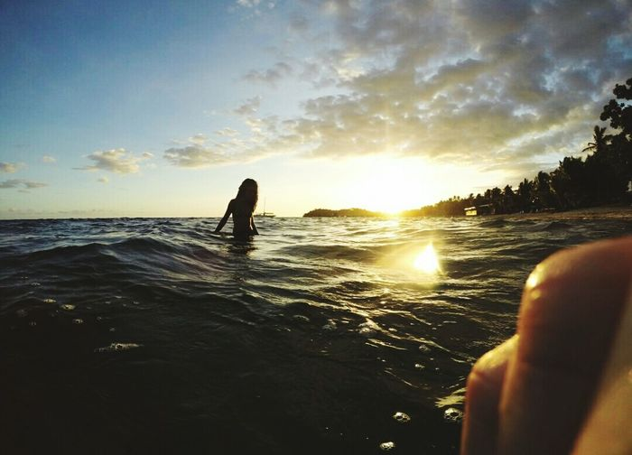 Fiji Islands Single Life  Love To Take Photos ❤ Sea Beach Only Men People Silhouette Sunset Water