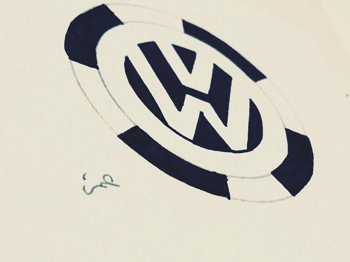 Sketch Volkswagen Car Logos Black & White Logo Pencil Drawing Pencilart Motivation