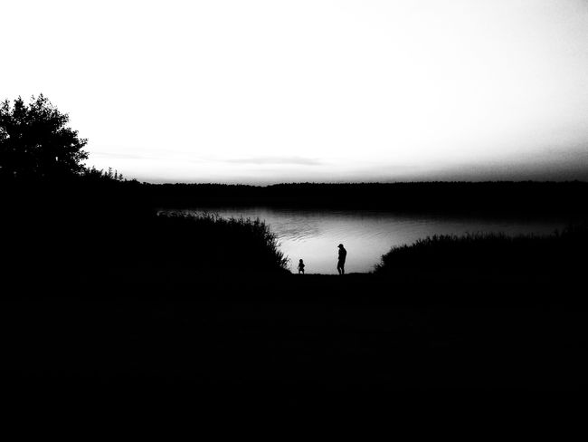 walk by the lake Full Length Standing Silhouette Sky Lakeside Shore Calm Idyllic Standing Water Horizon Over Water Lake