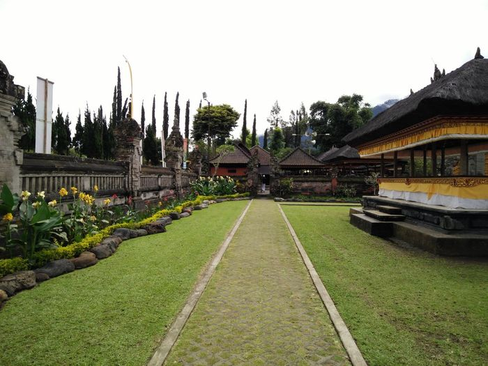 Architecture Built Structure Day Diminishing Perspective Grass Green Color History No People Outdoors Tourism Travel Destinations Tree Bedugul Bali, Indonesia Bedugul Temple Bedugulbali
