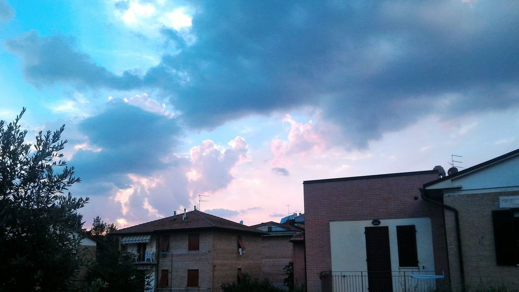 Sunset Colors Colorful Sky Skyporn Clouds No People Italy Pink Blue Check This Out Awesome
