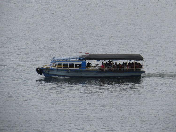 Motor Boat. Nature Hanging Out Water Boat Ship Toba Lake Lake Toba Floating