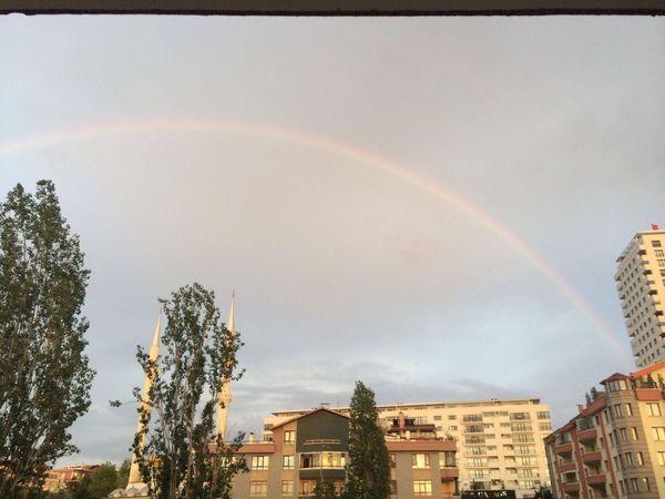 Rainbow Belong Anywhere Mosque Sky