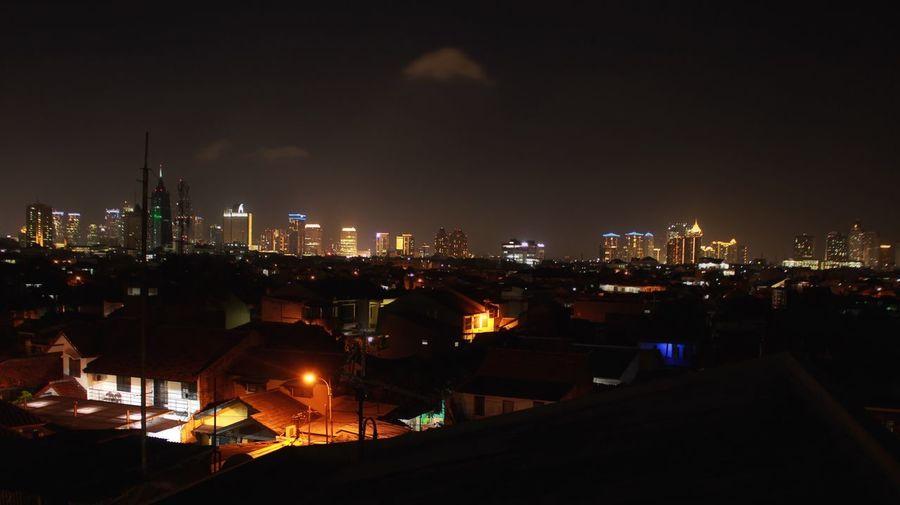 MIDDLENIGHT Night Night Lights Nightphotography City Citylights Empire State Building Jakarta