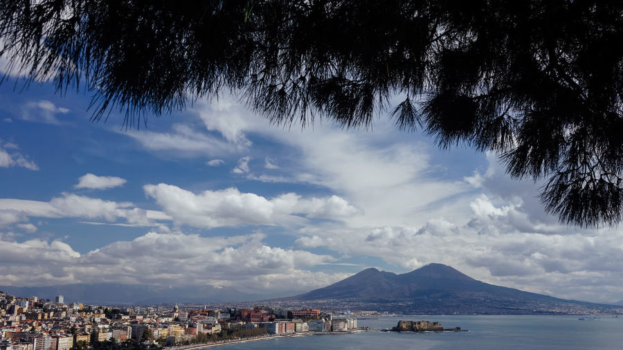 View to volcano Vesuvius in Naples in Italy Mountain No People Outdoors Beauty In Nature Vesuvio Vesuvius  Volcano Sky Travel Destinations Travel Photography Traveling Naples Napoli Italia Italy Sightseeing Famous Place Tourist Destination Tourism Tourst Attraction  Landscape Campania